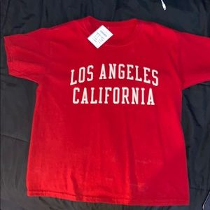 Brandy Melville Tops - Brand New Red Brandy Melville Los Angeles T Shirt